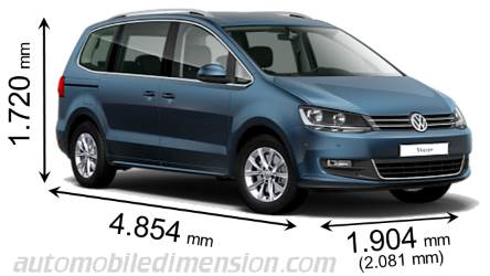 dimensions volkswagen sharan 2015 coffre et int rieur. Black Bedroom Furniture Sets. Home Design Ideas
