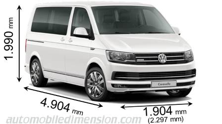 dimensions volkswagen t6 caravelle ct 2015 coffre et int rieur. Black Bedroom Furniture Sets. Home Design Ideas