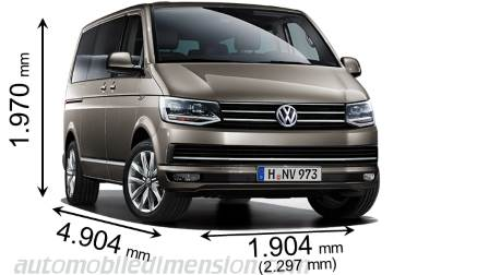 Dimension Volkswagen T6 Multivan 2015