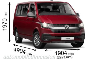 Dimension Volkswagen T6.1 Multivan 2020