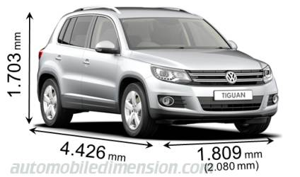 Dimension Volkswagen Tiguan 2011