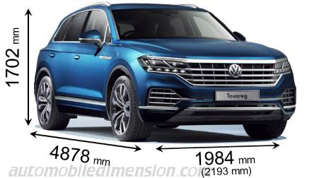 Volkswagen Touareg measures in mm