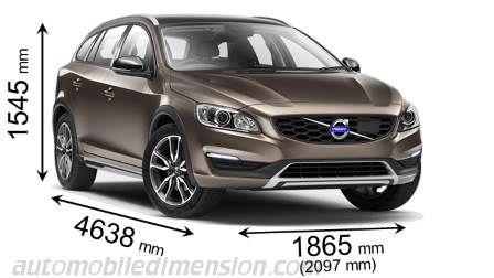 Volvo V60 Cross Country length x width x height