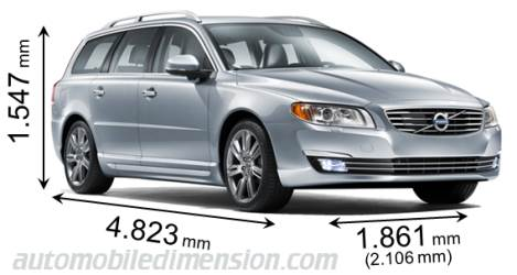 Dimension Volvo V70 2013