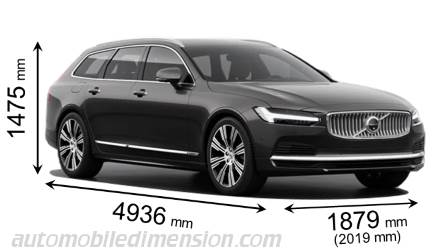 Dimension Volvo V90 2020