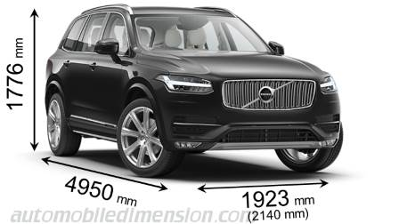 Volvo XC90 measures in mm